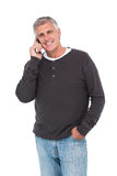 Casual man on the phone Stock Photography