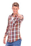Casual man pointing at you Royalty Free Stock Images