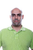 Casual man portrait with green polo shirt Royalty Free Stock Photo