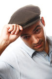 Casual man portrait with hat Royalty Free Stock Photography