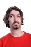 casual man portrait red shirt t στοκ εικόνα με δικαίωμα ελεύθερης χρήσης