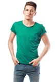Casual man portrait. Young casual man portrait isolated on white background Stock Images