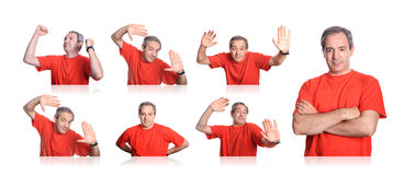 Casual man portraits group Stock Image