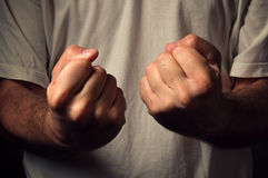Casual man's fist Royalty Free Stock Images