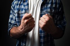 Casual man's fist Royalty Free Stock Photos