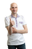 Casual Man showing his thumb up Royalty Free Stock Photo