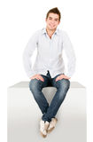 Casual man sitting Royalty Free Stock Photos