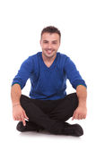 Casual man sitting Royalty Free Stock Images