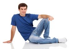 Casual man sitting Royalty Free Stock Image