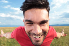 Casual man smile closeup Royalty Free Stock Images