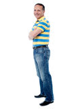 Casual man standing with his arms crossed Royalty Free Stock Photography