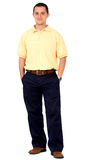 Casual man standing isolated Stock Photography