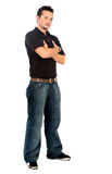 Casual man standing on white Royalty Free Stock Photo