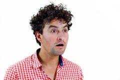 Casual man surprised Stock Image