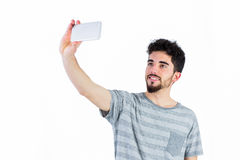 Casual man taking a selfie Royalty Free Stock Image