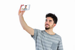Casual man taking a selfie Stock Photo