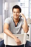 Casual man talking on mobile Stock Image