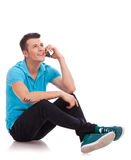 Casual man talking on the phone Stock Photography
