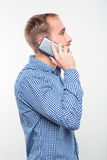 Casual man talking on the phone Royalty Free Stock Photography
