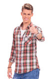 Casual man thumbs up Stock Photography