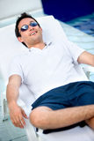 Casual man on vacation Royalty Free Stock Image