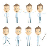 Casual man in various poses Stock Images