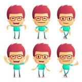 Casual man in various poses Royalty Free Stock Image