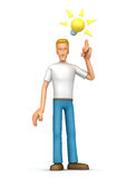 Casual man  visited idea Royalty Free Stock Photo