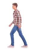 Casual man walking Stock Images