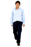 Casual man walking Royalty Free Stock Photo