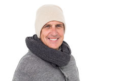 Casual man in warm clothing Royalty Free Stock Image