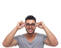 Casual Man Wear Eye Glasses Young Businessman Royalty Free Stock Photo