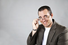 Casual man wearing glasses Stock Photography