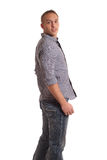 Casual Man on White Royalty Free Stock Photo