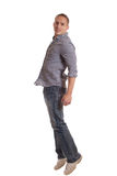 Casual Man on White Royalty Free Stock Photography