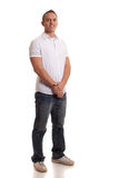 Casual Man on White Stock Photography
