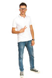Casual man with white t-shirt Stock Photos