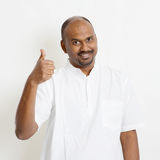 Casual mature Indian people thumb up Stock Photo