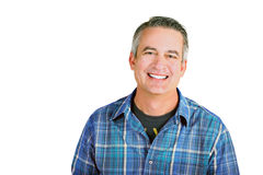 Casual mature man. On a white background Royalty Free Stock Photos