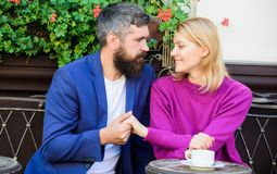 Casual meet acquaintance public place. Romantic couple. Normal way to meet and connect with other single people. Meet royalty free stock image