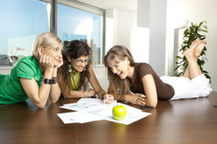 Casual meeting royalty free stock images
