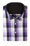 Casual men's shirt with a checked pattern Stock Image