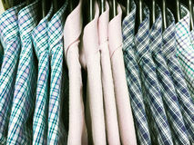 Casual men`s shirts Stock Images