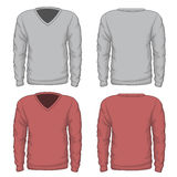 Casual mens v-neck sweatshirt vector Royalty Free Stock Photography