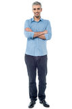 Casual middle age man posing Royalty Free Stock Photos