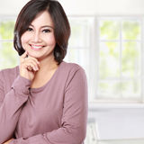 Casual middle aged woman Stock Photo