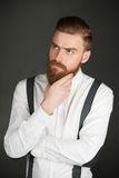 Casual modern man with beard Stock Image