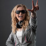 Casual music girl Royalty Free Stock Photography