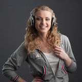Casual music girl Royalty Free Stock Photos