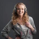 Casual music girl Royalty Free Stock Photos